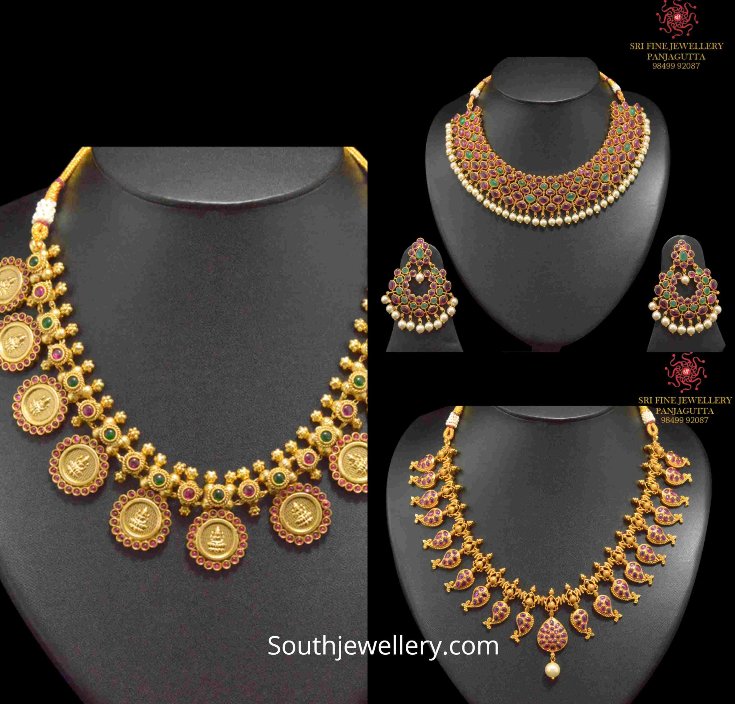 One Gram Gold Traditional Necklace Designs Indian Jewellery Designs