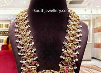 peacock kundan haram by naj jewellery