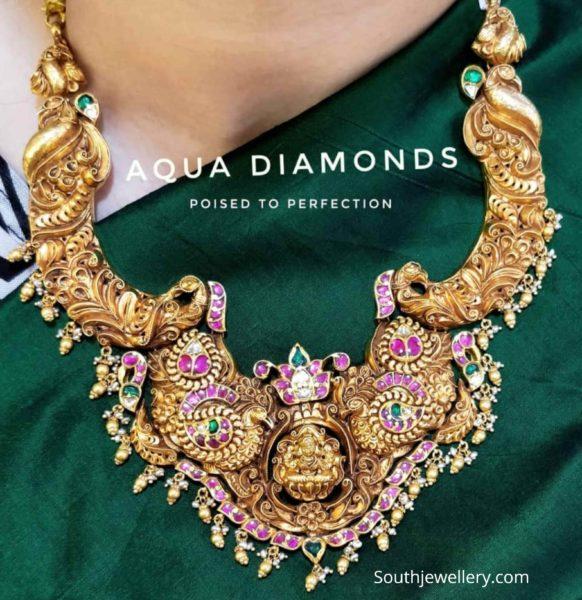 peacock lakshmi kante necklace