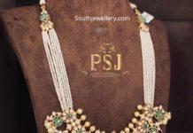 pearl haram with polki diamond pendant