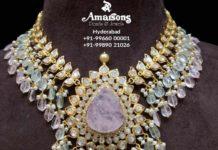 polki diamond and beads necklace