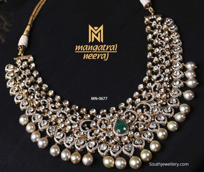 polki diamond necklace mangatrai neeraj