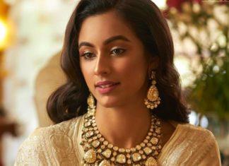 polki diamond necklace set by navrathan jewellers