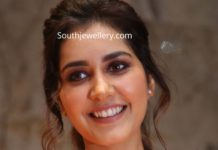 raashi khanna in ruby diamond necklace