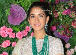 radhika merchant in emerald beads necklace