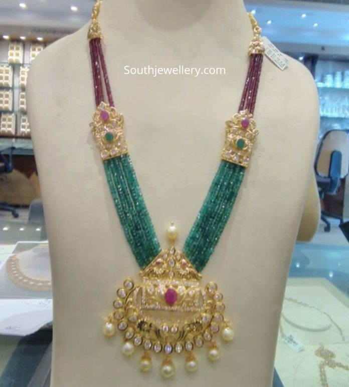 ruby and emerald beads haram by manchukonda