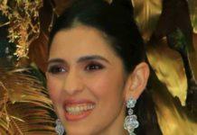 shloka ambani in floral diamond necklace
