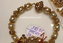 south sea pearl and nakshi balls bangles