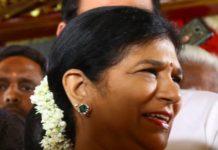 surekha konidela in diamond emerald necklace set