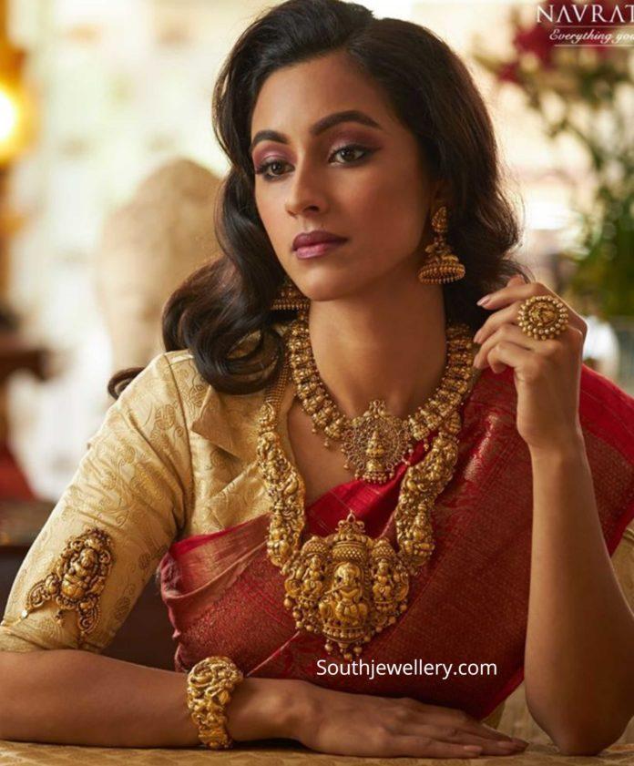temple jewellery set for weddings (1)