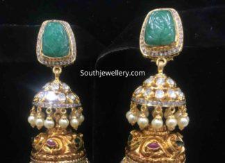 22k gold jhumki designs
