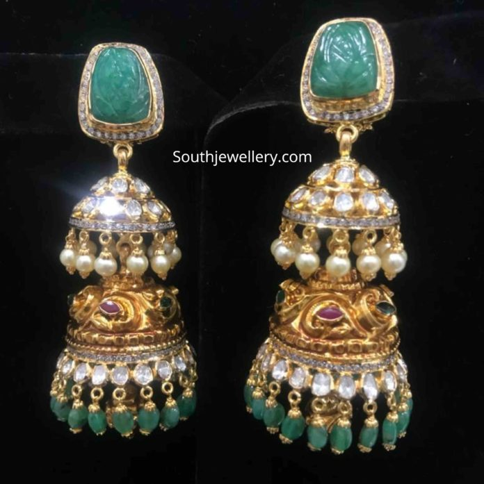 22k gold jhumki designs