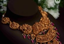 antique gold peacock necklace pmj jewels