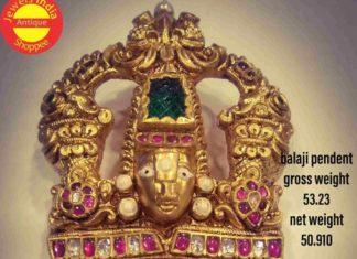 balaji gold pendant