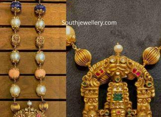 beads necklace with venkateswara pendant