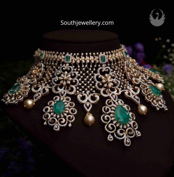 bridal diamond choker pmj jewels (1)