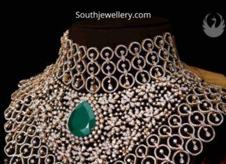 bridal diamond choker pmj jewels