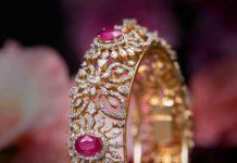diamond and ruby bangle