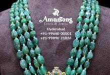 emerald beads jewellery designs
