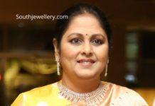 jayasudha in diamond necklace set