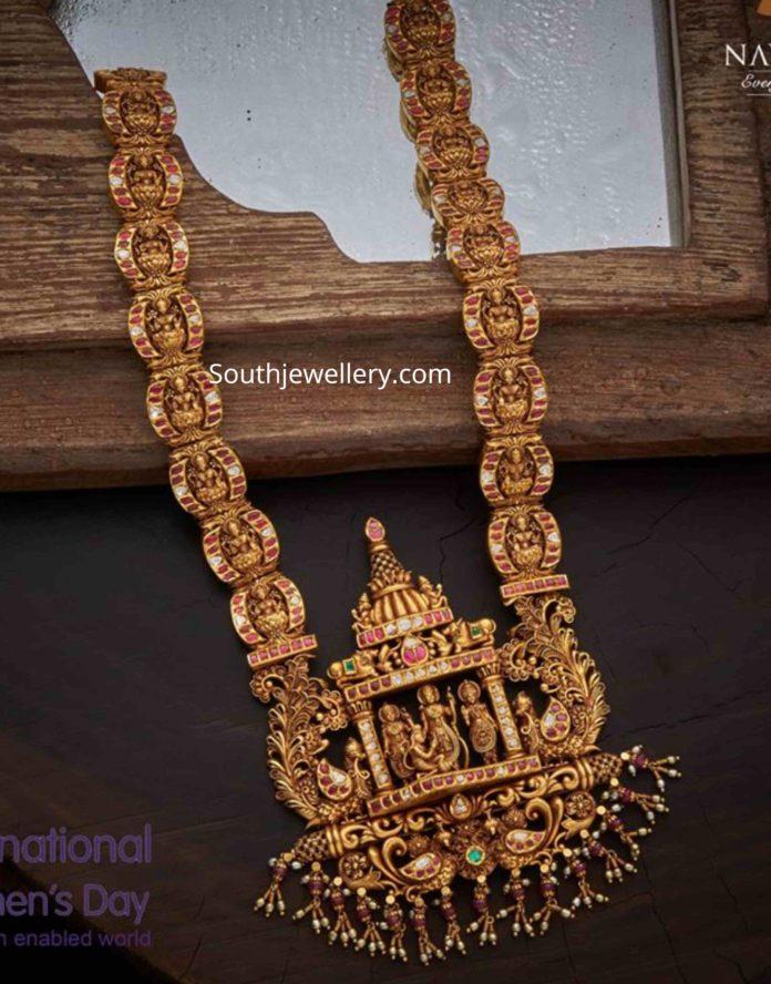 lakshmi haram with ram parivar pendant