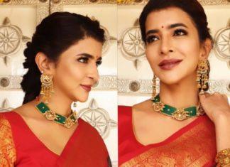 lakshmi manchu in emerald necklace (2)