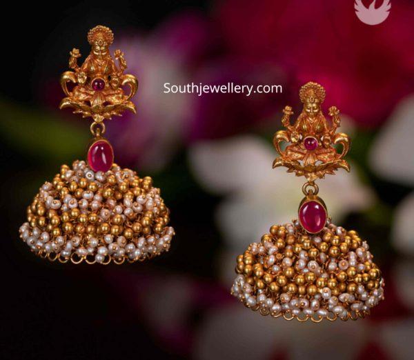 lakshmi nakshi jhumkas pmj jewels