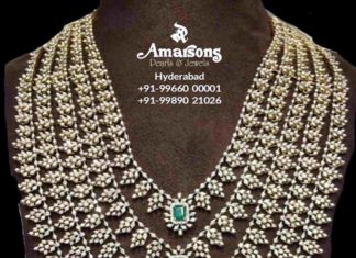 layered emerald diamond haram