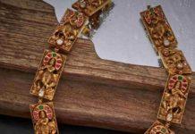 lord krishna antique gold haram