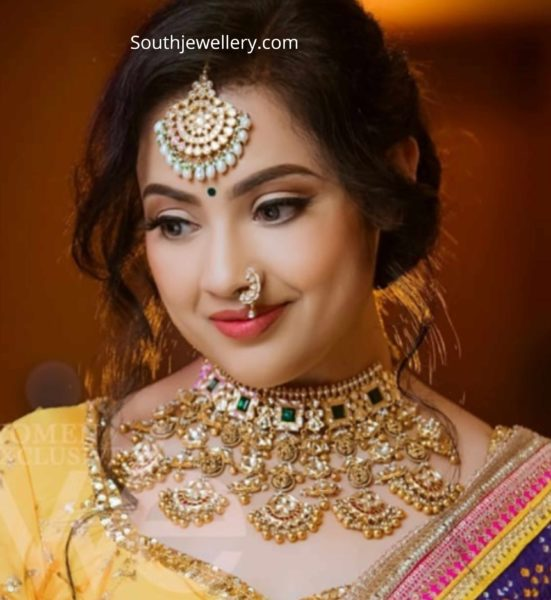 meena in uncut diamond choker