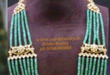 multi string emerald beads haram