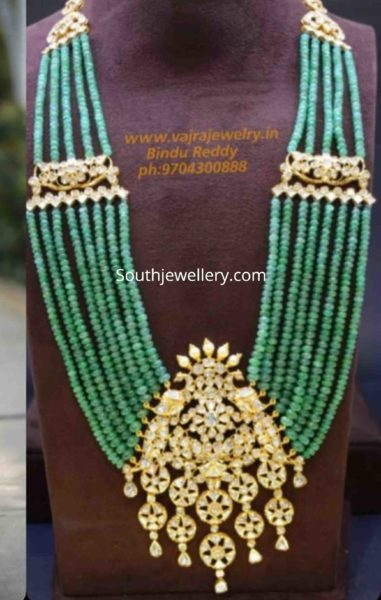 multi string emerald beads haram