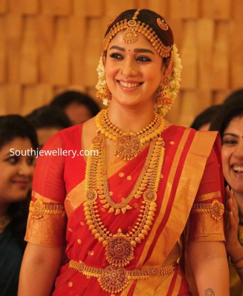 nayanthara in temple jewellery