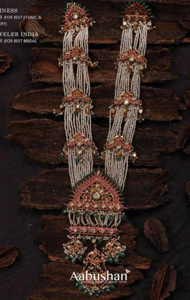 pearl haram with kundan pendant (1)