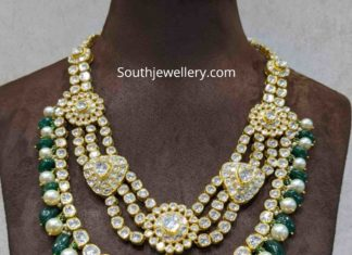 polki diamond step necklace by ananth diamonds