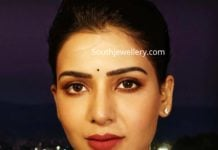 samantha akkineni in pearl necklace
