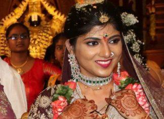 south indian bride diamond emerald jewellery set