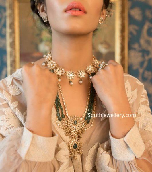 uncut diamond and emerald jewellery