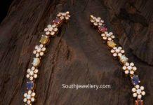 uncut diamond navratna gemstone necklace