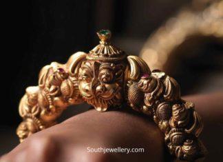 antique gold kada designs 2020