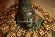 antique gold lakshmi haram by navrathan