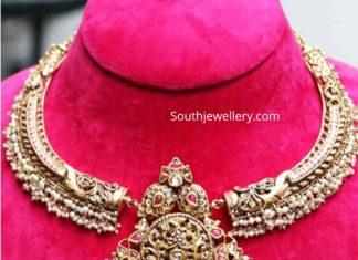 antique gold necklace designs (2)