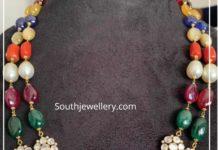 beads and polki necklace akoya