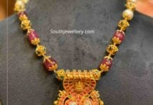 beads necklace with nagas pendant