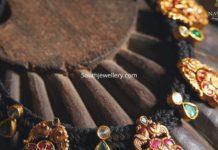 black dori necklace 22k gold
