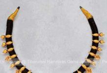 black thread necklace