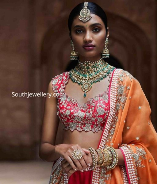 bridal uncut diamond jewellery set