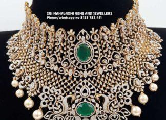 detachable diamond emerald choker