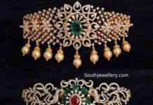 diamond emerald choker plus bajuband designs