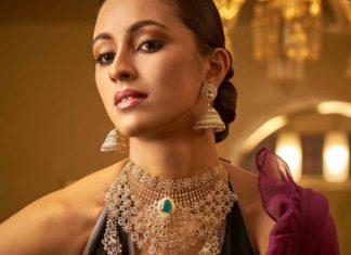diamond emerald necklace and haram set